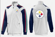 Wholesale Cheap NFL Pittsburgh Steelers Team Logo Jacket White_3