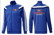 Wholesale Cheap NFL San Francisco 49ers Victory Jacket Blue_3
