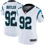 Wholesale Cheap Nike Panthers #92 Vernon Butler White Women's Stitched NFL Vapor Untouchable Limited Jersey
