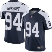 Wholesale Cheap Nike Cowboys #94 Randy Gregory Navy Blue Thanksgiving Men's Stitched NFL Vapor Untouchable Limited Throwback Jersey