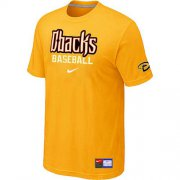 Wholesale Cheap Arizona Diamondbacks Nike Short Sleeve Practice MLB T-Shirt Yellow