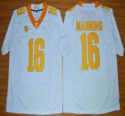 Wholesale Cheap Tennessee Volunteers #16 Peyton Manning White 2015 College Football Jersey