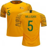 Wholesale Cheap Australia #5 Milligan Home Soccer Country Jersey