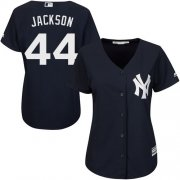 Wholesale Cheap Yankees #44 Reggie Jackson Navy Blue Alternate Women's Stitched MLB Jersey