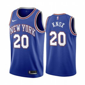 Wholesale Cheap Nike Knicks #20 Kevin Knox Navy 2019-20 Statement Edition NBA Jersey
