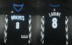 Wholesale Cheap Minnesota Timberwolves #8 Zach LaVine Revolution 30 Swingman 2014 New Black Jersey