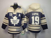 Wholesale Cheap Maple Leafs #19 Joffrey Lupul Blue Sawyer Hooded Sweatshirt Stitched Youth NHL Jersey
