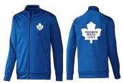 Wholesale Cheap NHL Toronto Maple Leafs Zip Jackets Blue-2