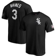 Wholesale Cheap Chicago White Sox #3 Harold Baines Majestic 2019 Hall of Fame Induction Name & Number T-Shirt Black
