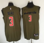 Wholesale Cheap Washington Wizards #3 Bradley Beal Olive Nike Swingman Jersey