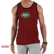 Wholesale Cheap Men's Nike NFL New York Jets Sideline Legend Authentic Logo Tank Top Red
