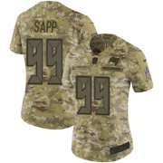 Wholesale Cheap Nike Buccaneers #99 Warren Sapp Camo Women's Stitched NFL Limited 2018 Salute to Service Jersey