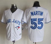 Wholesale Cheap Blue Jays #55 Russell Martin White New Cool Base Stitched MLB Jersey
