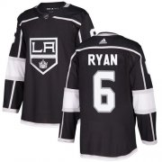 Wholesale Cheap Adidas Kings #6 Joakim Ryan Black Home Authentic Stitched NHL Jersey