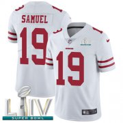 Wholesale Cheap Nike 49ers #19 Deebo Samuel White Super Bowl LIV 2020 Youth Stitched NFL Vapor Untouchable Limited Jersey