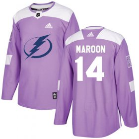 Cheap Adidas Lightning #14 Pat Maroon Purple Authentic Fights Cancer Youth Stitched NHL Jersey