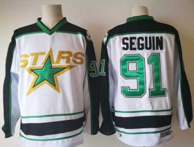Wholesale Cheap Adidas Stars #91 Tyler Seguin White Road Authentic Stitched NHL Jersey