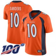 Wholesale Cheap Nike Broncos #10 Emmanuel Sanders Orange Men's Stitched NFL 100th Season Vapor Limited Jersey