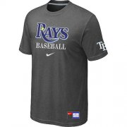 Wholesale Cheap Tampa Bay Rays Nike Short Sleeve Practice MLB T-Shirt Crow Grey
