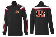 Wholesale Cheap NFL Cincinnati Bengals Team Logo Jacket Black_2