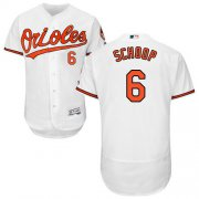 Wholesale Cheap Orioles #6 Jonathan Schoop White Flexbase Authentic Collection Stitched MLB Jersey