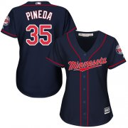 Wholesale Cheap Twins #35 Michael Pineda Navy Blue Alternate Women's Stitched MLB Jersey