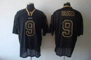 Wholesale Cheap Saints #9 Drew Brees Lights Out Black Stitched NFL Jersey