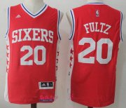 Wholesale Cheap Men's 2017 Draft Philadelphia 76ers #20 Markelle Fultz Red Stitched NBA adidas Revolution 30 Swingman Jersey