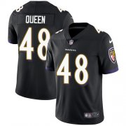 Wholesale Cheap Nike Ravens #48 Patrick Queen Black Alternate Men's Stitched NFL Vapor Untouchable Limited Jersey