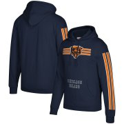 Wholesale Cheap Chicago Bears Mitchell & Ness Three Stripe Pullover Hoodie Navy