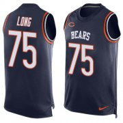 Wholesale Cheap Nike Bears #75 Kyle Long Navy Blue Team Color Men's Stitched NFL Limited Tank Top Jersey