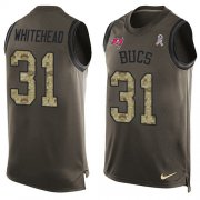 Wholesale Cheap Nike Buccaneers #31 Jordan Whitehead Green Men's Stitched NFL Limited Salute To Service Tank Top Jersey