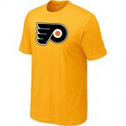 Wholesale Cheap Philadelphia Flyers Big & Tall Logo Yellow NHL T-Shirt