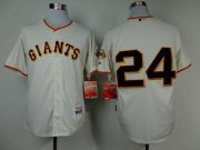 Wholesale Cheap Giants #24 Willie Mays Cream Cool Base Stitched MLB Jersey