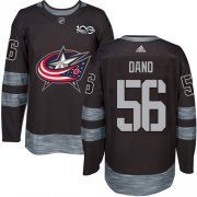 Wholesale Cheap Adidas Blue Jackets #56 Marko Dano Black 1917-2017 100th Anniversary Stitched NHL Jersey