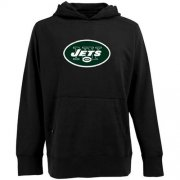 Wholesale Cheap Antigua New York Jets Signature Pullover Hoodie Black