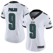 Wholesale Cheap Nike Eagles #9 Nick Foles White Women's Stitched NFL Vapor Untouchable Limited Jersey