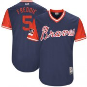 "Wholesale Cheap Braves #5 Freddie Freeman Navy ""Freddie"" Players Weekend Authentic Stitched MLB Jersey"