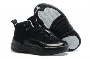 Wholesale Cheap Kids Air Jordan 12 Oreo Black