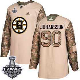 Wholesale Cheap Adidas Bruins #90 Marcus Johansson Camo Authentic 2017 Veterans Day 2019 Stanley Cup Final Stitched NHL Jersey