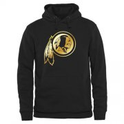 Wholesale Cheap Men's Washington Redskins Pro Line Black Gold Collection Pullover Hoodie