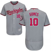 Wholesale Cheap Nationals #10 Yan Gomes Grey Flexbase Authentic Collection Stitched MLB Jersey