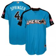 Wholesale Cheap Astros #4 George Springer Blue 2017 All-Star American League Stitched Youth MLB Jersey