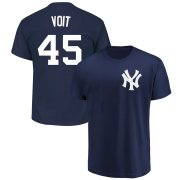 Wholesale Cheap New York Yankees #45 Luke Voit Majestic Official Name & Number T-Shirt Navy