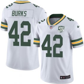 Wholesale Cheap Nike Packers #42 Oren Burks White Men\'s 100th Season Stitched NFL Vapor Untouchable Limited Jersey