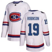 Wholesale Cheap Adidas Canadiens #19 Larry Robinson White Authentic 2017 100 Classic Stitched NHL Jersey