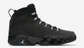 Wholesale Cheap Air Jordan 9 Anthracite Shoes Black/white
