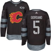 Wholesale Cheap Adidas Flames #5 Mark Giordano Black 1917-2017 100th Anniversary Stitched NHL Jersey