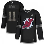 Wholesale Cheap Adidas Devils #11 Brian Boyle Black Authentic Classic Stitched NHL Jersey