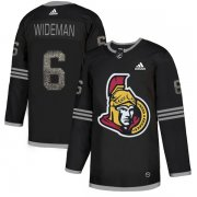 Wholesale Cheap Adidas Senators #6 Chris Wideman Black Authentic Classic Stitched NHL Jersey